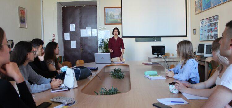 Зустріч гаранта освітньої-професійної програми «Англійська мова і література» зі студентами групи Fil1-B18